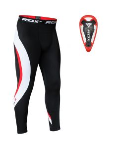 RDX MO Compression Flex Trouser & Groin Cup Red Small