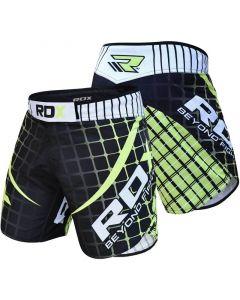 RDX R2 Flex Panel Extra Small Green Polyester MMA Shorts