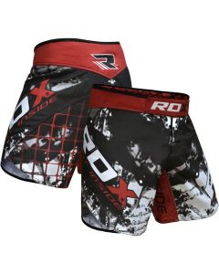 RDX R6 Giant Inside Extra Small Red Polyester Grappling Shorts