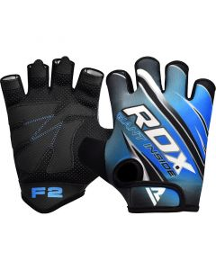 RDX F2 Small Blue Lycra Gym Workout Gloves