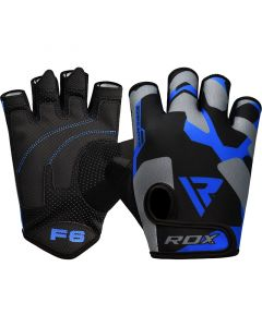 RDX F6 Fitness Gym Gloves Small Blue