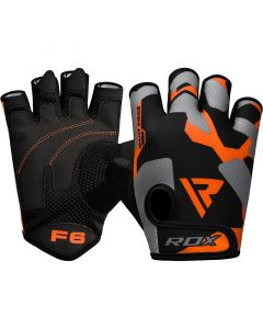 RDX F6 Small Orange Lycra Fitness Gym Gloves