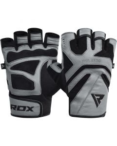 RDX S12 Gym Gloves Grey Small