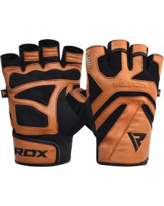 RDX S12 Small Tan Leather Gym Gloves
