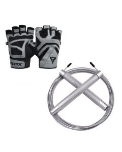 RDX S12 Gym Gloves & C4 Skipping Rope