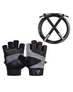 RDX S12 GYM GLOVES With Skipping Rope