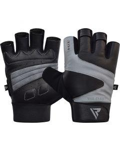 RDX S14 Small Grey Leather Ferris Gym Gloves