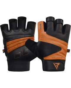 RDX S14 Small Tan Leather Ferris Gym Gloves