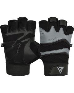 RDX S15 Small Grey Leather Fitness Gym Gloves