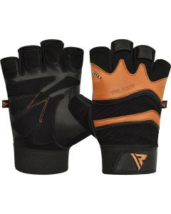 RDX S15 Fitness Gym Gloves Small Tan