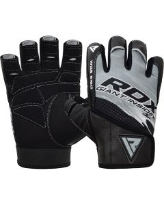 RDX S16 Small Grey Lycra weightlifting Gloves