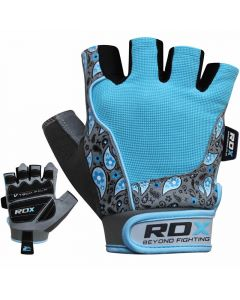 RDX S6 Small Blue Amara  Fitness Gym Gloves