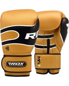 RDX S7 Bazooka 10oz Golden Leather Boxing Gloves