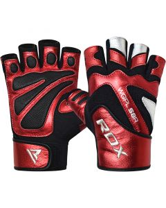 RDX S8 Bold Extra Small Red Leather Gym Gloves