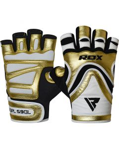 RDX S9 Extra Small Golden Leather Glaze Gym Gloves