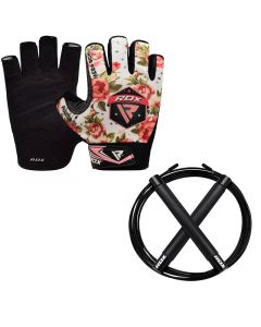 RDX F23 Gym Gloves With Skipping Rope