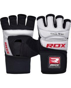 RDX T1 Small White LeatherX Taekwondo Gloves