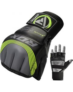 RDX T10 Nemesis MMA Gloves Green S/M
