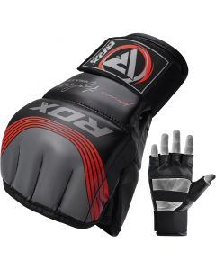 RDX T10 Nemesis S/M Red Leather X MMA Gloves