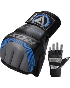 RDX T10 Nemesis S/M Blue Leather X MMA Gloves