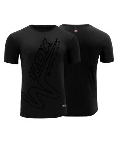 RDX T15  Small Black Polyester Noir T-Shirt