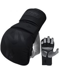 RDX T15 Small Black Leather X Noir MMA Sparring Gloves