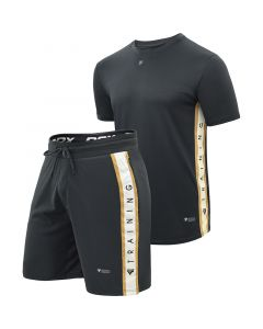 RDX T17 Aura Small Black Polyester Shorts & T-Shirt Bundle