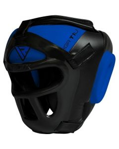 RDX T1 Combox Small Blue Leather X Full Face Head Guard