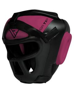 RDX T1P Combox Small Pink Leather X Head Guard For Women