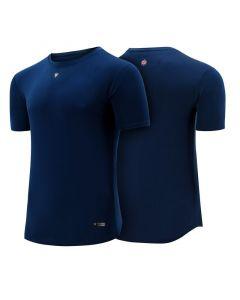 RDX T1 Small Blue Polyester Short Sleeve T Shirt