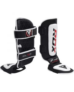 RDX T2 MMA Shin Instep Guards White Small