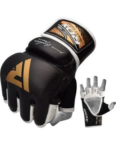 RDX T2 Quest Small Golden Leather MMA Gloves