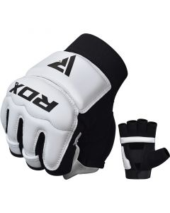 RDX T2 Small White LeatherX Taekwondo Gloves