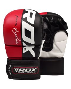 RDX T6 Small Red Leather X MMA Grappling Gloves