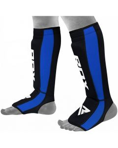 RDX T6 S/M Blue LeatherX Shin Instep Guards