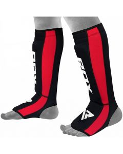 RDX T6 S/M Red LeatherX Shin Instep Guards