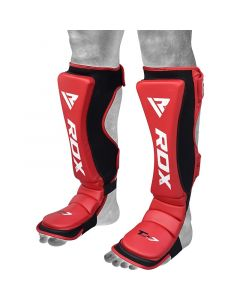 RDX T7 Red Shin Instep Guards Medium
