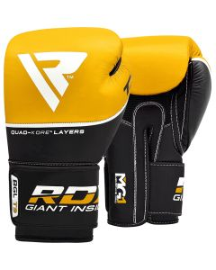 RDX T9 Ace 10oz Yellow Leather Boxing Gloves