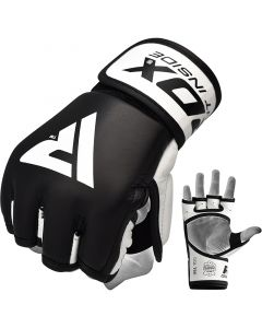RDX T9 Hearse Extra Large Black Leather MMA Gloves