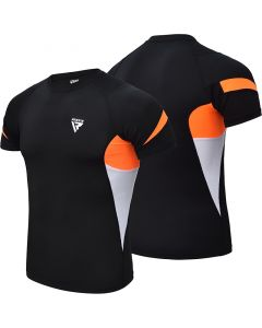 RDX S3 Extra Small Orange Base Layer Compression Rash Guard