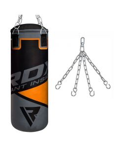 Fansport Punching Bag Set Unfilled Boxing Bag with Thai Training Gloves Mouth Guard