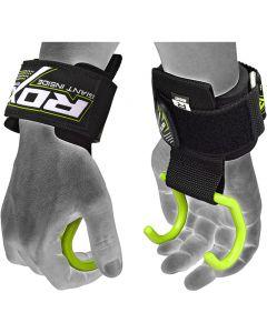RDX W15 Green NeopreneAnchor Gym Hook Straps