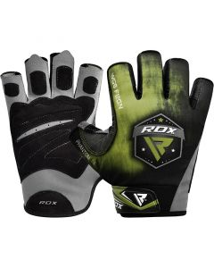 RDX F12 Weightlifting Gym Gloves Green Small
