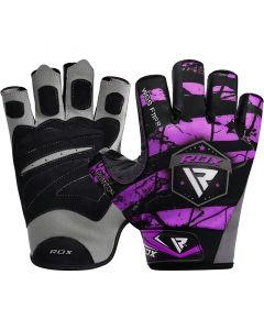 RDX F11 Bodybuilding Gym Gloves Small Purple