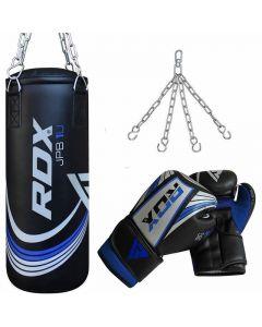 RDX X1U Demo Blue 2ft Filled Punch Bag & Gloves