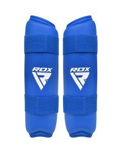 RDX X2 Taekwondo Shin Pads Blue Small
