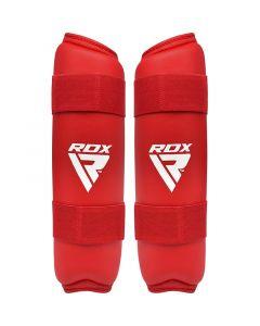 RDX X2 Taekwondo Shin Pads Red Small