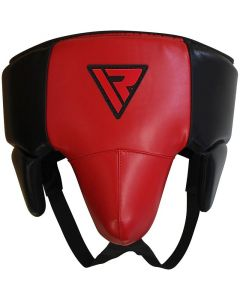 RDX X3 No Foul Small Red Leather X Groin Guard