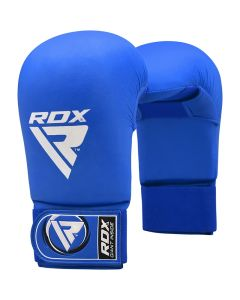 RDX X3 Taekwondo Semi Contact Mitts Blue Small