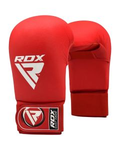 RDX X3 Taekwondo Semi Contact Mitts Red Small